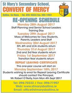 School Reopening Date
