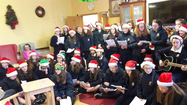 St. Mary's Young Pioneers Christmas Caroling in St. Augustine's Nursing Home