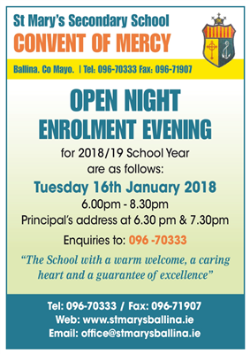Open / Enrolment Night 2018/19