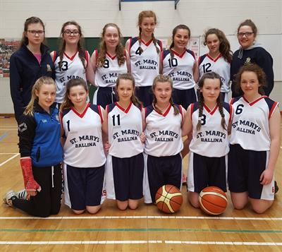 All Ireland Finals for our 1st year Basketball team
