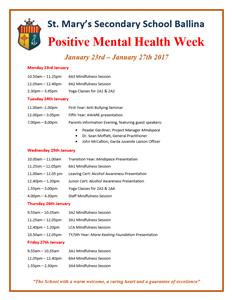 Positive mental Health Week