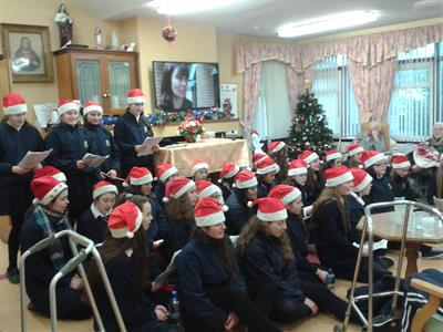 Young Pioneers Christmas Caroling in St. Augustines Nursing Home