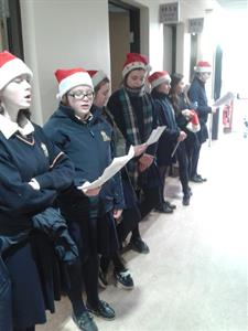 Young Pioneers Christmas Caroling in the Hospital
