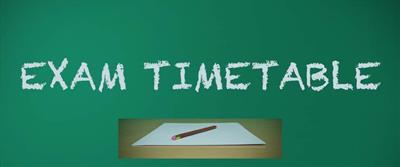 Mock Exams Timetable