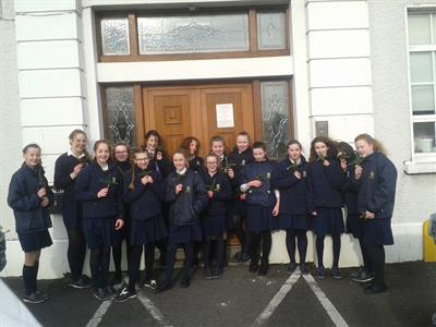 Young Pioneers distributing St Brigid