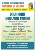 Open / Enrolment Night 2018/19
