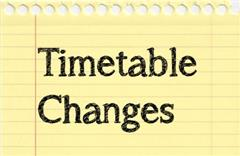 NOTICE: re changes to school timetable from September 2019