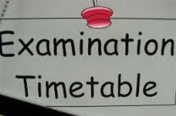 Mock and February Exam Timetables