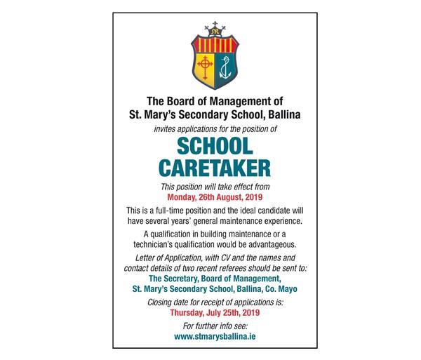 Vacancy School Caretaker