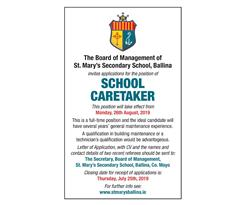 Vacancy School Caretaker