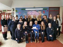 Student Council presents cheque to SVP