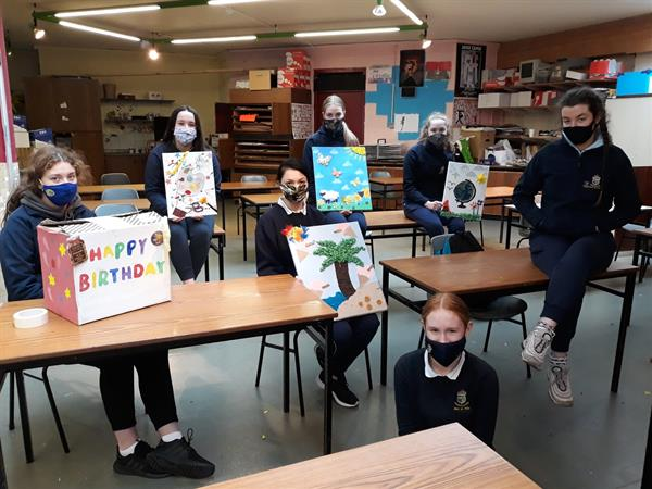 TY students produce artwork for St. Nicholas's