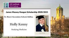 NUIG Scholarship for Holly Kenny
