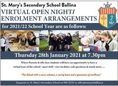 Enrolment Arrangements 2021