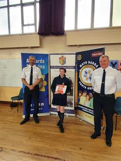 Caoimhe wins Annual Mayo Garda Youth Awards
