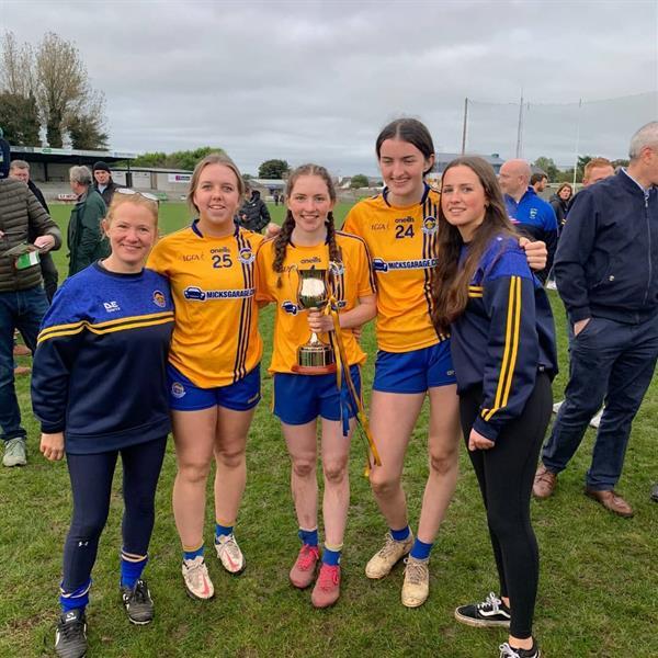 Romy Battle, Ciara Durkin, Clodagh Keane and Marie Breslin County Champions